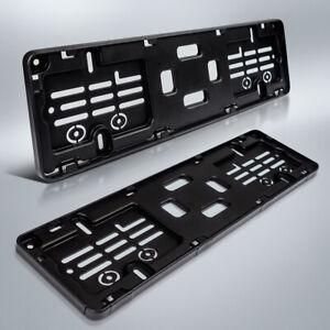 2-Kennzeichenhalter-400-x-110-mm-fuer-kurze-Kennzeichen-schwarz-40-x-11