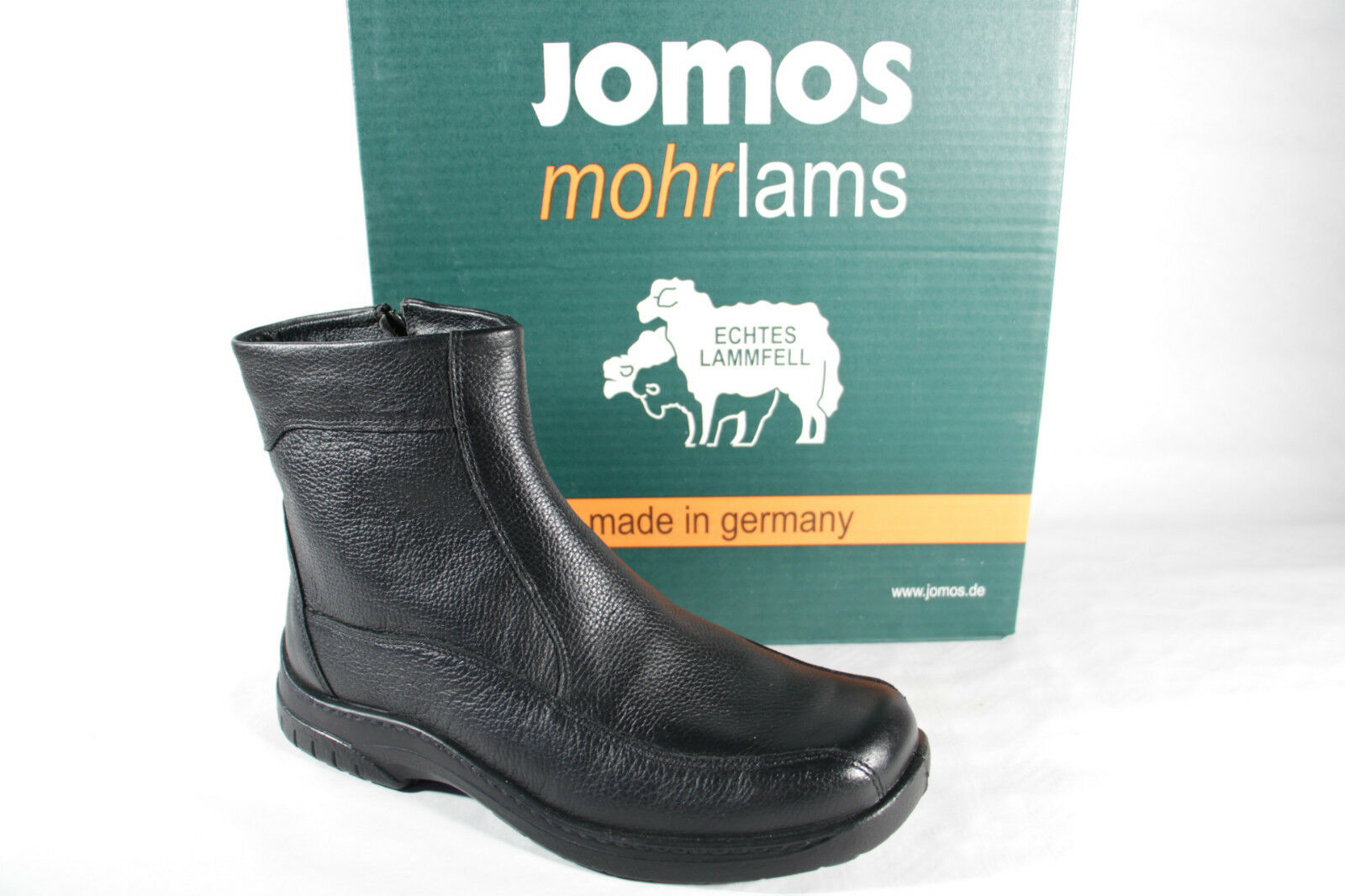 Jomos Men's Boots Winter Boots Black Leather Lambskin 406502 New