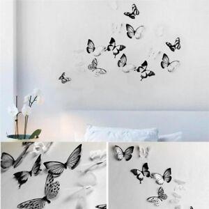 Decorations-pour-la-maison-18pcs-3D-Papillon-Design-Sticker-Art-Stickers-Muraux