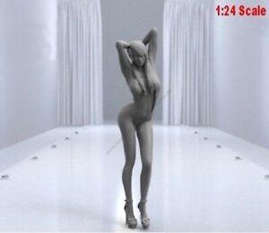 1-24-75mm-Resin-Figure-Model-Kit-Sexy-Girl-Car-Speed-Pin-Up-Unassamble-Unpainted
