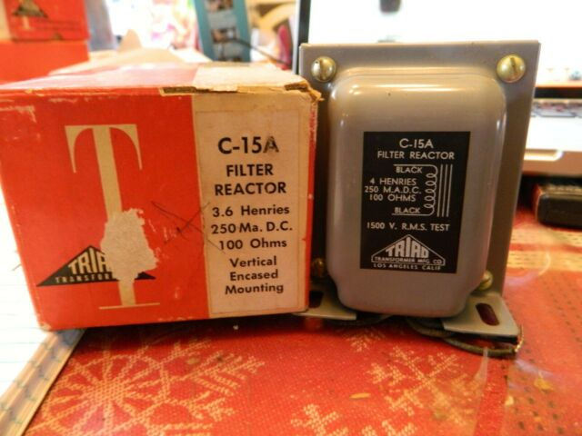 TRIAD C-15A CHOKE REACTOR TRANSFORMER NEW OLD STOCK FOR TUBE AMPLIFIER IN BOX