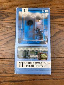 TRIM-A-TREE-150-CLEAR-TRIPLE-SWAG-LIGHTS-NEW