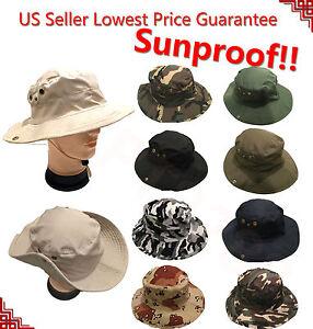Boonie-Bucket-Hat-Cap-Cotton-Fishing-Military-Hunting-Safari-Summer-Outdoor-Men