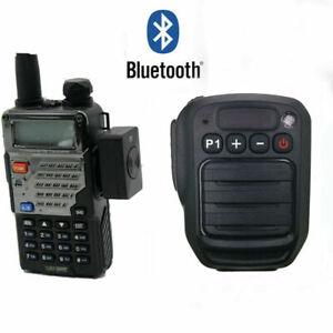 Bluetooth PTT Shoulder Mic FOR KENWOOD BAOFENG UV5R Walkie Talkie Radio iPhone