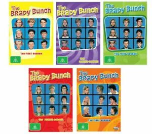 THE-BRADY-BUNCH-DVD-ALL-SEASONS-SERIES-1-2-3-4-5-Region-4-BRAND-NEW