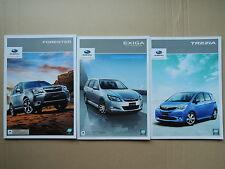 JDM SUBARU FORESTER / EXIGA / TREZIA Original Sales Brochures Catalogs