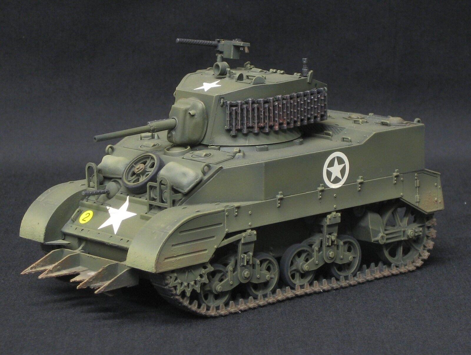 Tamiya m5-a1 us tank pro built and painted 1 35 Dragon airfix Italeri