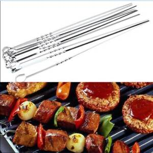 Assorted Sizes Steel Reusable BBQ Skewers Chicken//Meat//Fish//Kebab