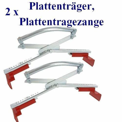 2 x Profi Plattenheber 30//50 Steinheber Steinzange Terrassenplatten Gehweg,,,