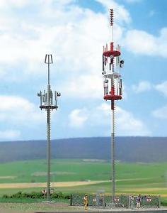 Busch-1021-x2-Mobile-Phone-Mast-Cell-PhoneTowers-OO-Gauge