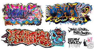 HO-Scale-Custom-Graffiti-Decals-48-Weather-Your-Box-Cars-Hoppers-amp-Gondolas