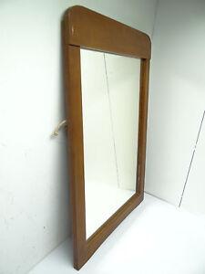 Vintage Used Old Decorative Wood Framed Glass Rectangular