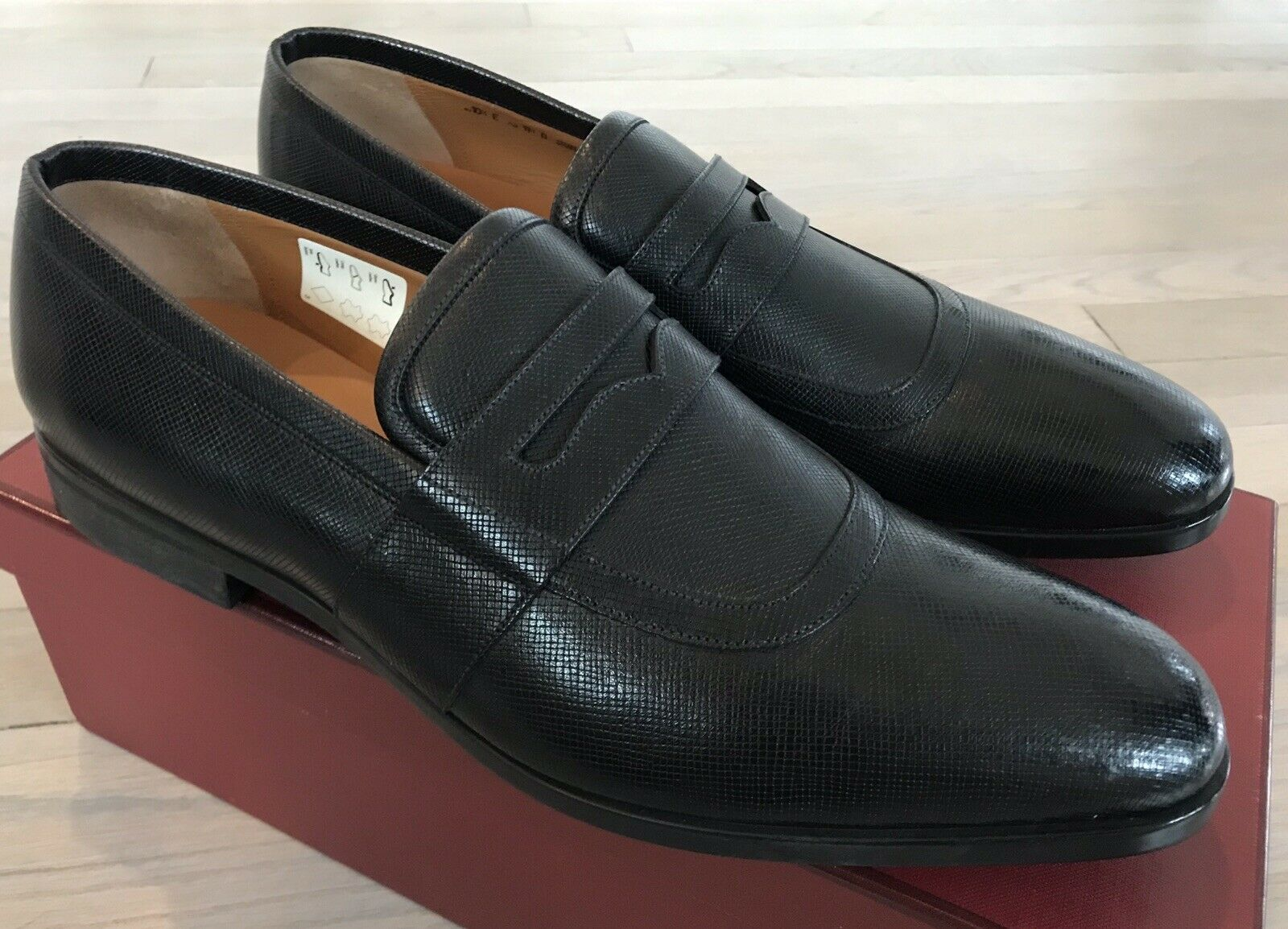 650  Bally Black Lahney Leather Loafers Size US 12 Made in Switzerland