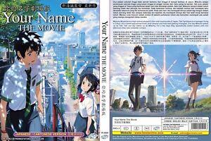 Anime Dvdyour Namekimi No Na Waenglish Suball Region Free
