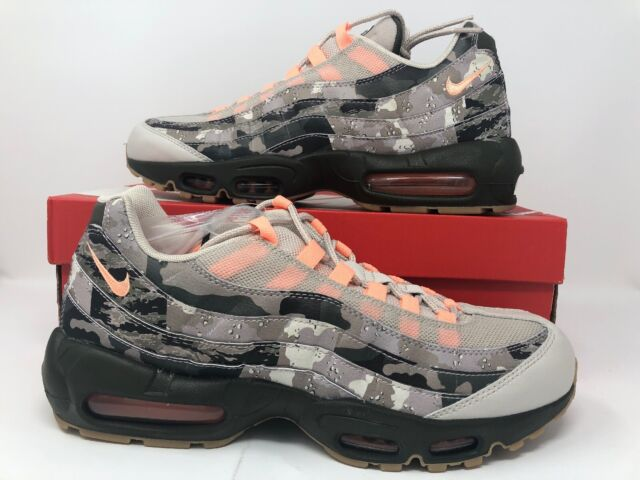competitive price 4593c 51baf Nike Air Max 95 Essential Camo Sz 10.5 Desert Sand Sunset Tint Black Aq6303  001