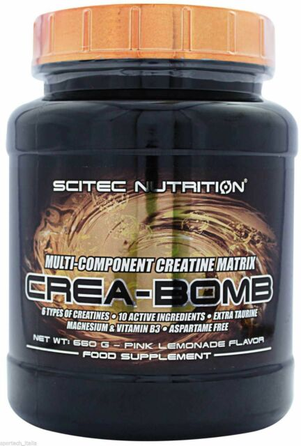 Scitec Nutrition - Crea-Bomb 660 g - 6 tipi diversi di Creatina + Taurina