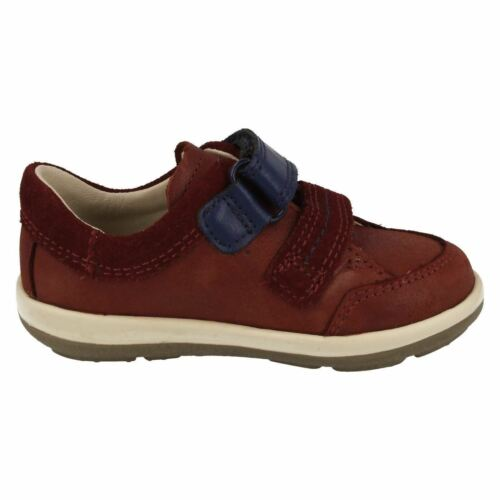 Details about  /Boys Clarks Softly Zakk Fst Navy Or Brown Leather First Shoes