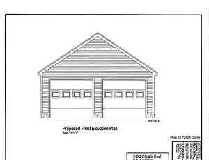 24x24 2 Car Garage Plan Gable Roof Plan 2424gbl Ebay