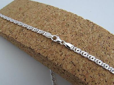 Real 925 Sterling Silver Solid Italian Tiger Eye Chain Necklace 4mm wide