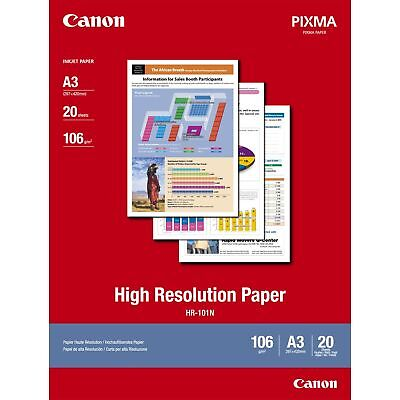 Canon HR 101N High Resolution Print Multipurpose Paper A3 20 Sheets Coated