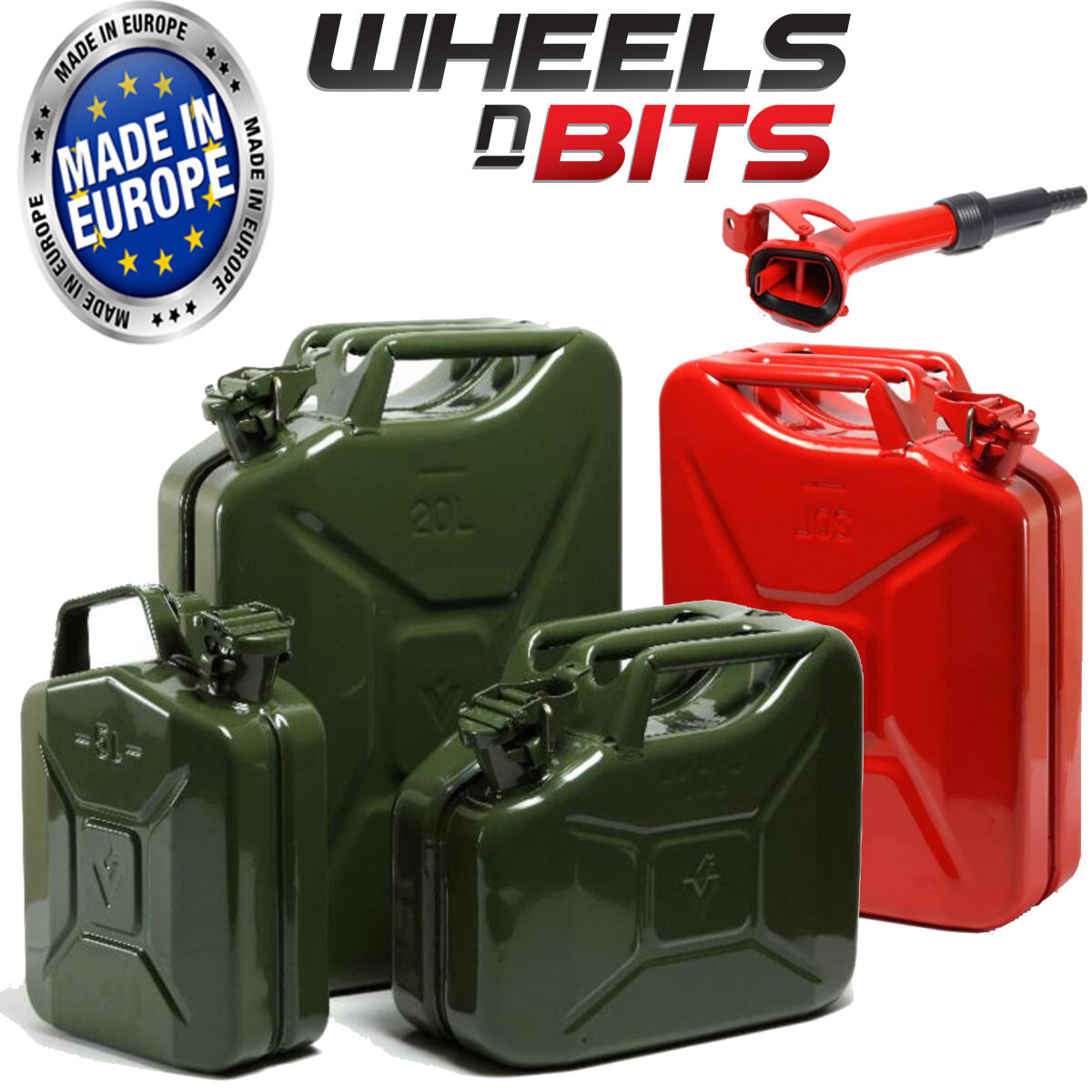 5L 10L 20L Litre Jerry Military Can Fuel Oil Water Petrol Diesel Red bluee Green