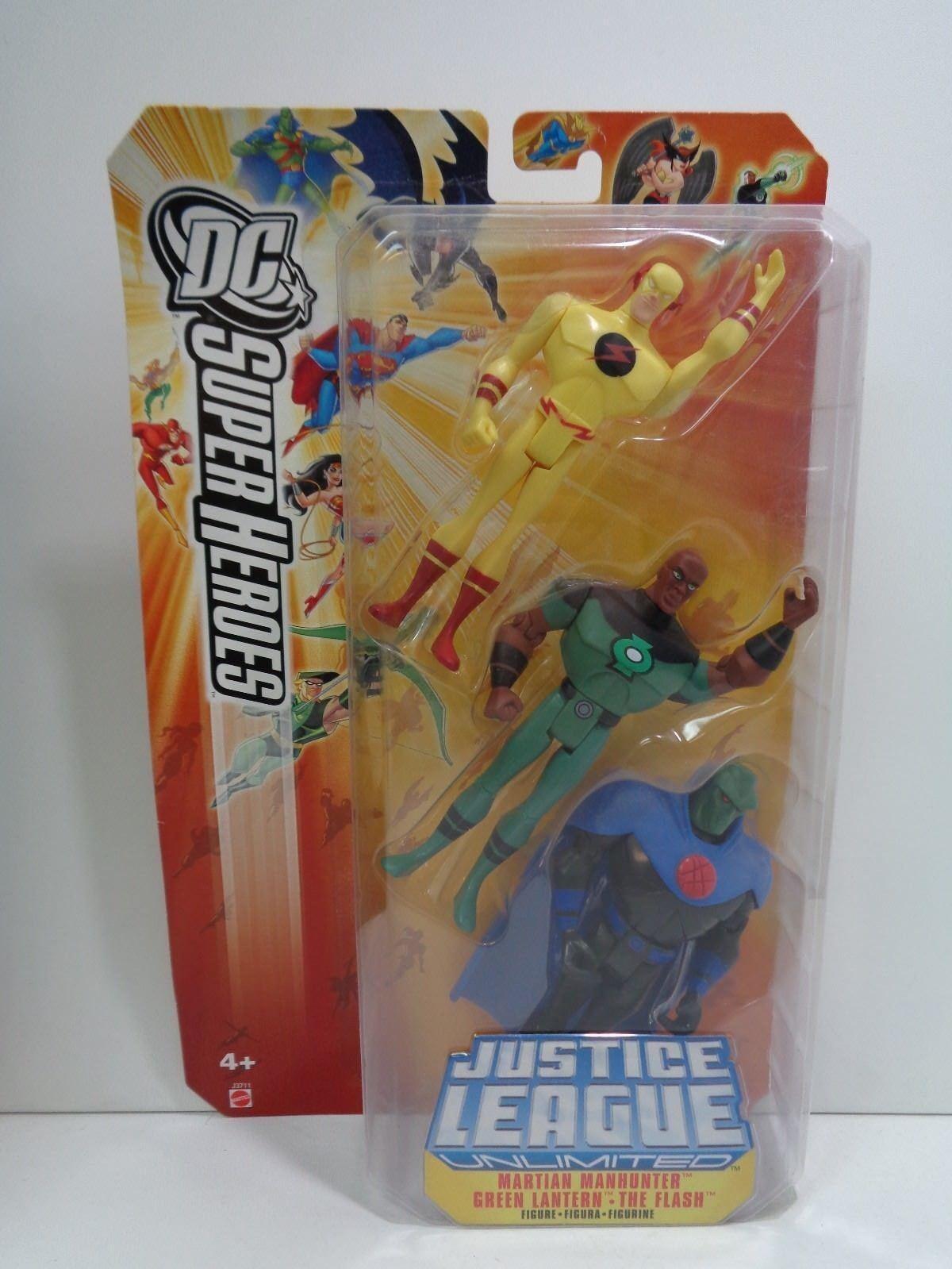 DC Comics MARTIAN MANHUNTER GREEN LANTERN THE FLASH Justice League Unlimited MOC