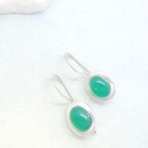 Onyx-gruen-oval-Design-Ohrringe-Haenger-Ohrhaenger-925-Sterling-Silber-neu