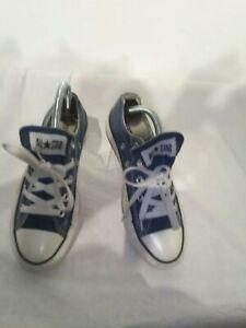 Converse-All-Star-Chuck-Classico-Blu-Uomo-Donna-Scarpe-Sportive-Basse-M9697-37-UK-4