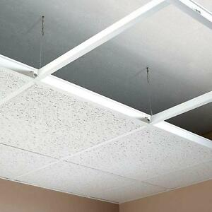Complete Suspended Ceiling Grid System Kit White Black