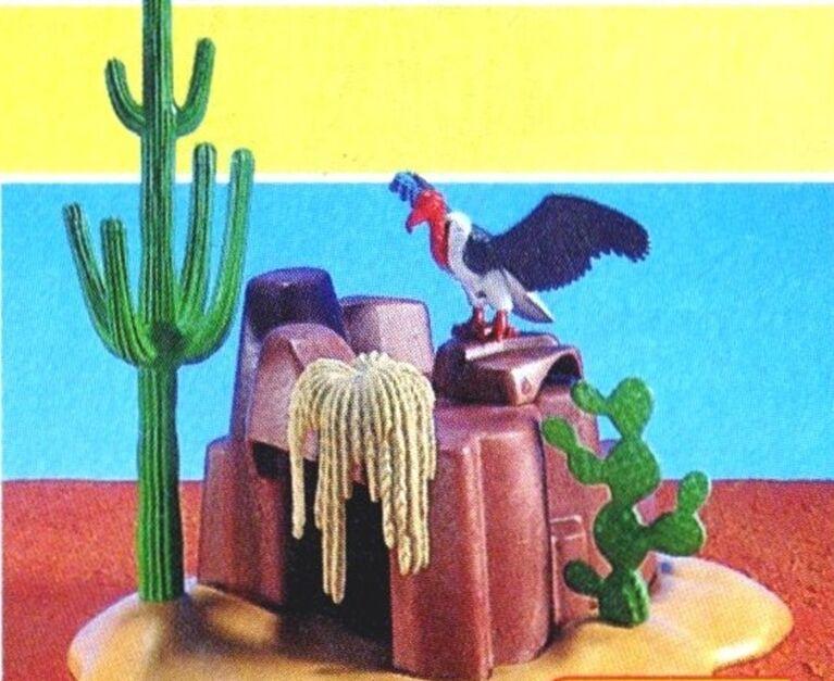 servizio onesto Playmobil 7222 Western Cave Cactus Cactus Cactus Hideout Vulture Add-On Accessory NIP Retirosso  per offrirti un piacevole shopping online
