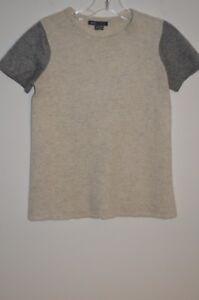 Vince Sweater Cashmere Sleeve Short Scoop Neck 100 Størrelse Gray S Oq0SrO