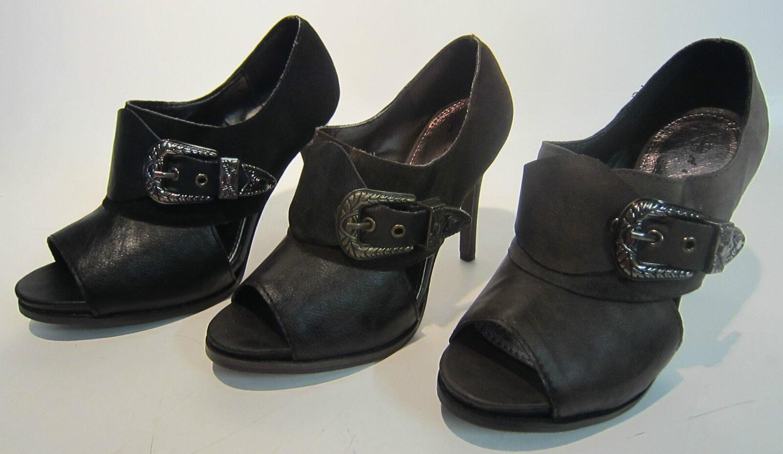 Moda jest prosta i niedroga L3992 - A & M Classic Stiefeletten - Peeptoe - Schnalle deatail