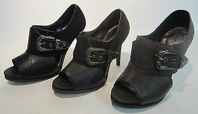 L3992 - A & m Clásico Botines-Peep Toe-Hebilla deatail