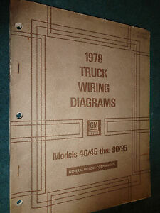 Details about 1978 CHEVROLET / GMC MEDIUM & HEAVY TRUCK SHOP MANUAL on