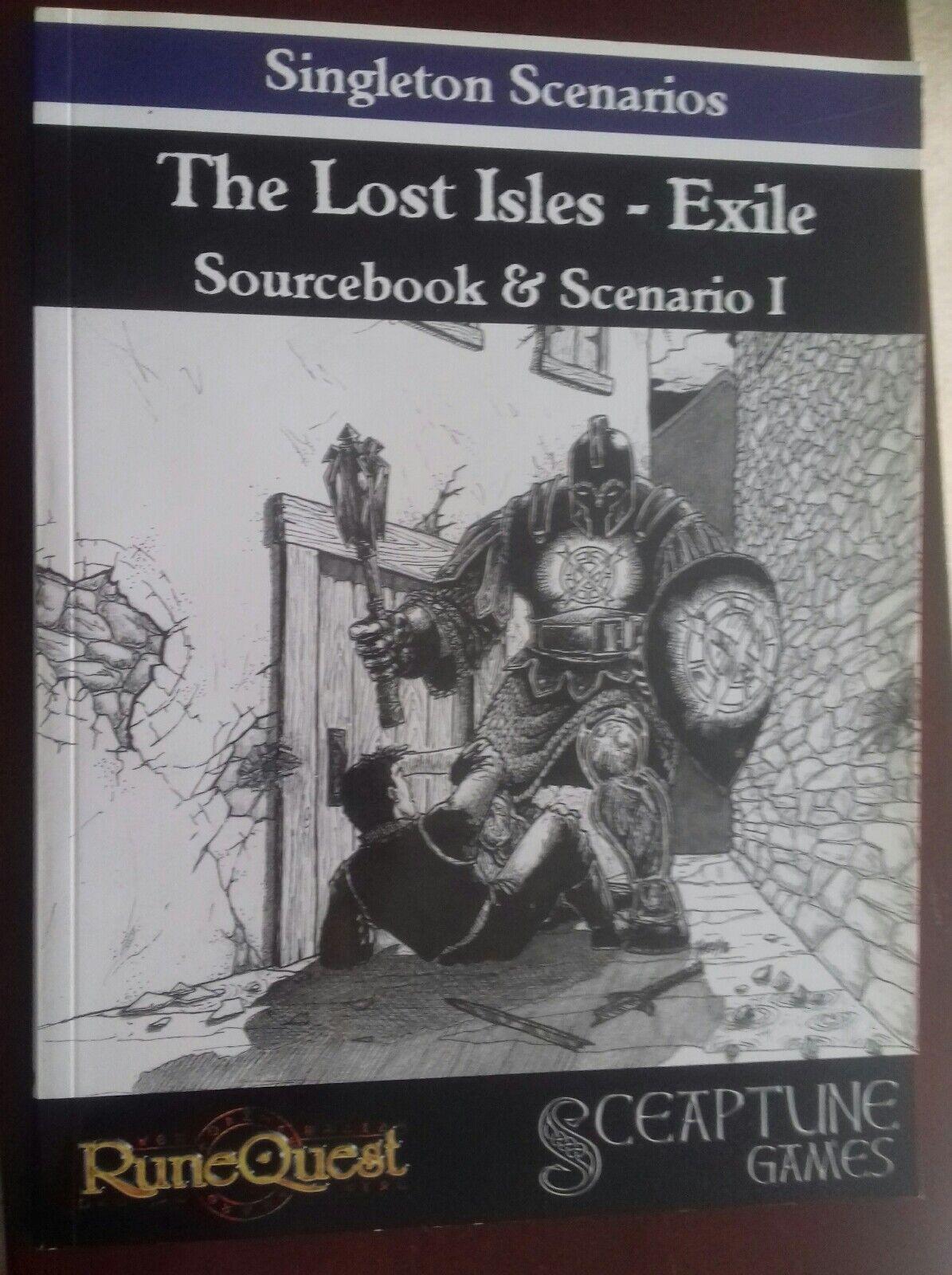 Lost isles exile runequest singleton scenario & sourcebook sceaptune games book