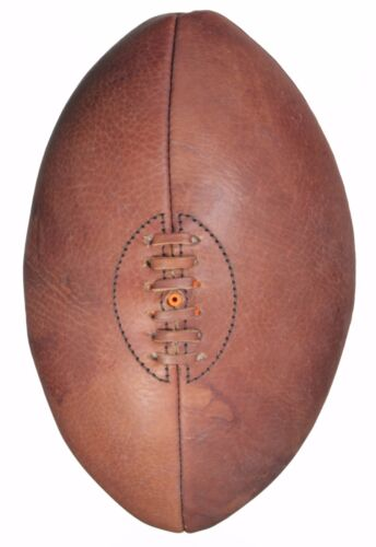 Rugby Ball Full Size 4 Panel Leather Retro Vintage Style Showpiece or Play