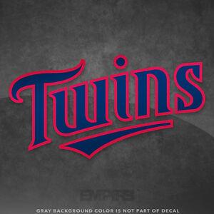 4e87e2141 Minnesota Twins Jersey Logo Vinyl Decal Sticker MLB - 4