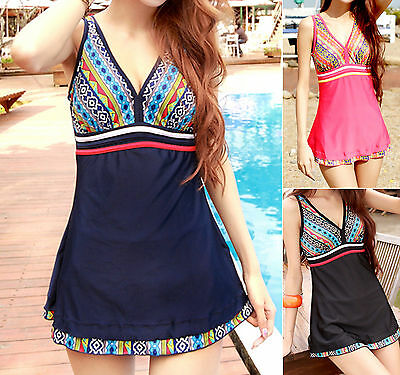 Ladies Swimwear One Piece Swimdress Tankini Aus Size 8 10 12 14 16 18 #400141