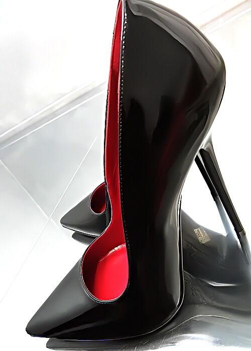 HOHE LEDER PUMPS SCHWARZ ITALY ANOUK Z50 schwarz TOP LEATHER POINTY HIGH HEELS 41  | Rabatt