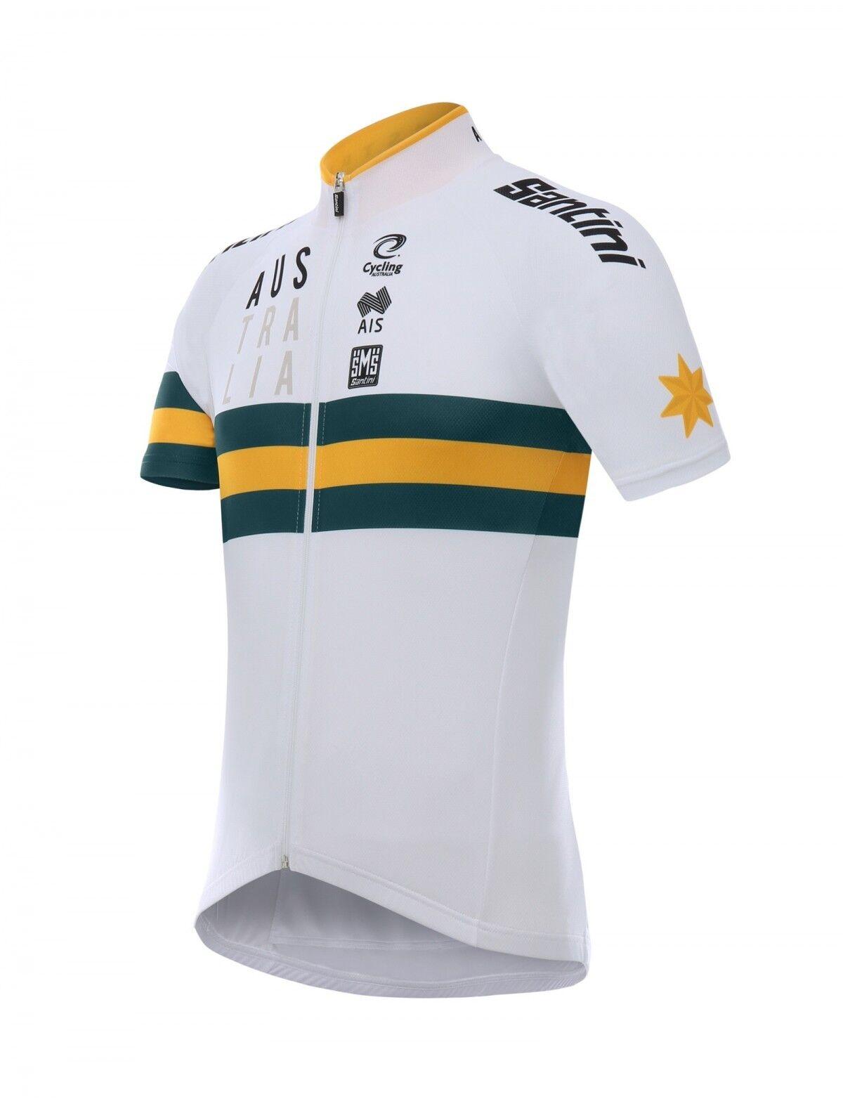 201718  Men's  AUSTRALIA NAT'L TEAM Short Sleeve Cycling Jersey by Santini