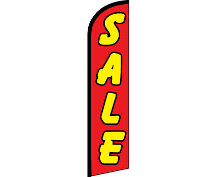 SALE Red Yellow Windless Full Curve Top Advertising Banner Flutter Bow Swooper F