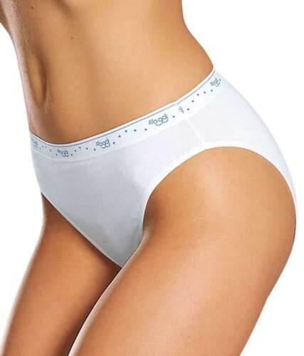 Sloggi 100 Tai Briefs High Leg White Cotton Sloggi Knickers sizes 10-18