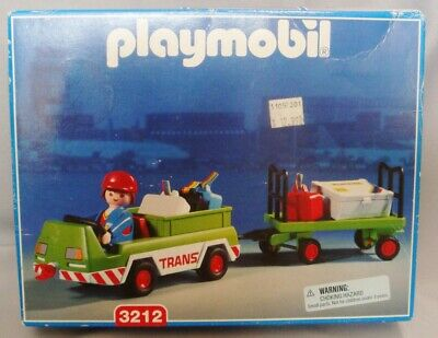 Vintage  Playmobil 3212 Baggage Carrier 2001 Complete