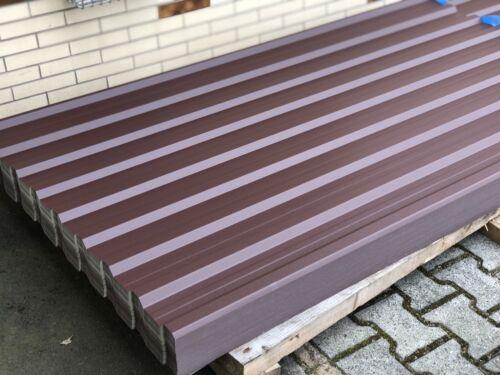 Trapezblech Profilblech 3m Wellblech 0,55mm Dachblech Stahlblech Braun RAL8017