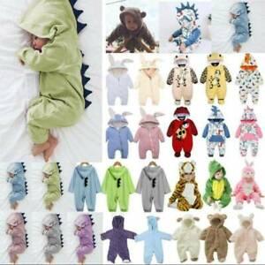 Newborn Baby Boys Girls Hooded Jumpsuit Romper Rabbit Costume Toddler Playsuit
