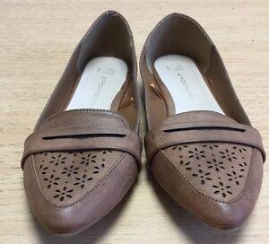Atmosphere-Size-6-Ladies-Brown-Slip-On-Shoes