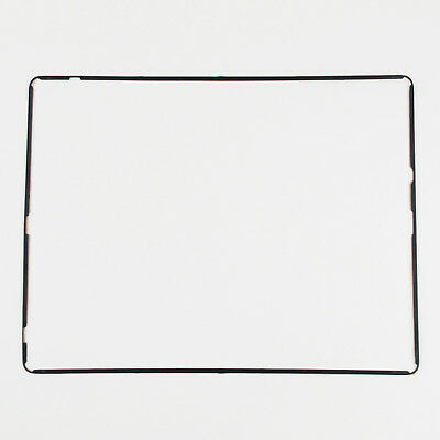New iPad 2 3 4 Digitizer LCD Screen Bezel Plastic Middle Frame Adhesive Black