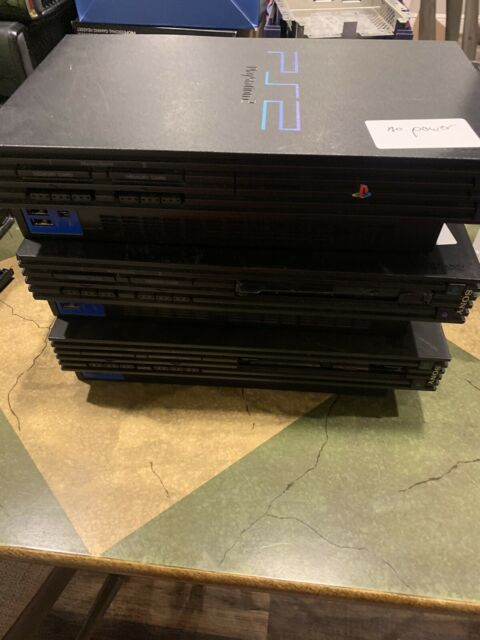 3 Sony PlayStation 2 PS2 Fat Original Black Consoles  Not Working Disk Drive Bad