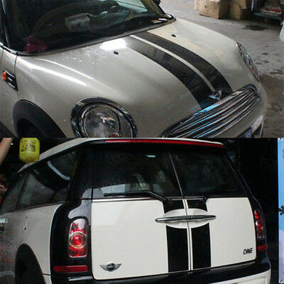 Bonnet And Rear Stripes Car Vinly Graphics Decals Stickers For MiNi Cooper R55