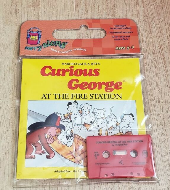 Curious George: At the Fire Station by H.A. and Margret Rey -- with Cassette